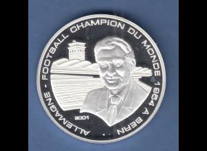 Republik Togo 2000 Silbermünze 1000 Francs Deutschland Fußball WM-Sieg 1954