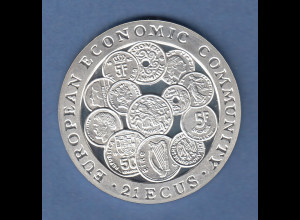 Gibraltar 1993, Silbermünze 21 Ecus EWG , 19,2g Ag925