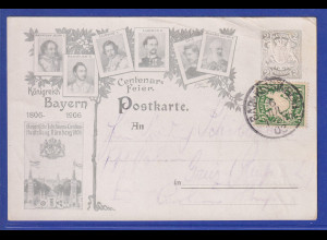 Bayern Mi.-Nr. 61 auf Postkarte aus Bad Kissingen, 1908