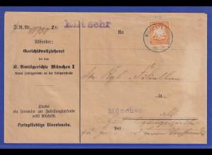 Bayern Wappen 25 Pfennig Mi.-Nr. 62y auf portopflichtiger Dienstsache
