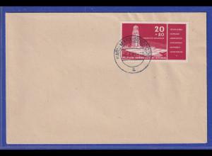 DDR 1957 Gedenkstätte Buchenwald Mi.-Nr. 538 gest. auf blanco-Umschlag