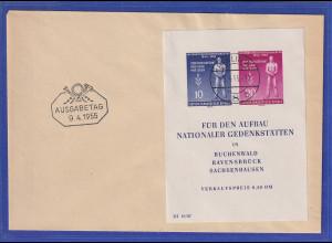 DDR 1955 Befreiungs-Block Mi.-Nr. Block 11 auf FDC mit Tages-O BERLIN W 9.4.55