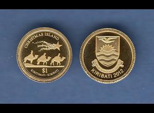 Kleinste Goldmünzen der Welt: Kiribati 2012 0,5g 999er Gold Heilige Drei Könige
