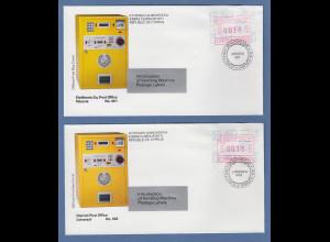 Zypern Frama-ATM 1989 Aut-Nr. 001 und 002 von VS je auf offiziellem FDC