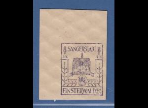 Lokalausgaben Sängerstadt Finsterwalde Mi.-Nr. 5b BLAUVIOLETT Eckrandstück **