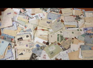 Deutschhland / Alle Welt uriger Briefposten, auch Ganzsachen, Postkarten usw.