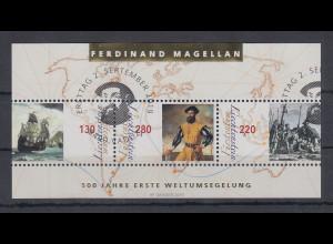 Liechtenstein 2019 Blockausgabe 500 Jahre Weltumsegelung Magellan Block 34 ET-O