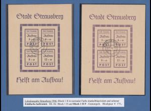 Lokalausgaben Stadt Strausberg Blocks Mi.-Nr. Block 1 II und Block 1 II F gest.