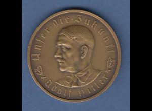Bronze-Medaille auf Adolf Hitler und die Machtergreifung 1933 Unser die Zukunft