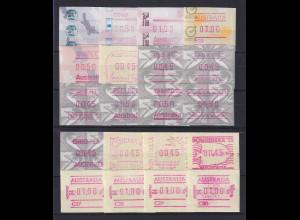 Australien Frama-Sonder-ATM 1987-1995 Sortiment 20 verschiedene Ausgaben **