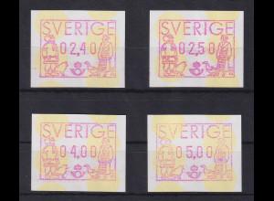 Schweden 1991 , FRAMA ATM Mi.-Nr. 1 Satz 4 Werte 240-250-400-500 **
