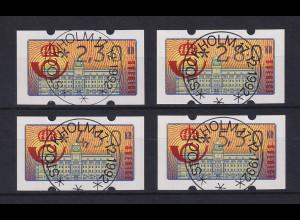 Schweden 1992 Klüssendorf ATM Mi.-Nr. 2 Satz 4 Werte 230-280-450-550 ET-O
