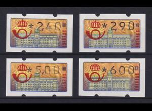 Schweden 1992 Klüssendorf ATM Mi.-Nr. 2 Satz 4 Werte 240-290-500-600 **