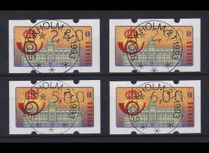 Schweden 1992 Klüssendorf ATM Mi.-Nr. 2 Satz 4 Werte 240-290-500-600 ET-O