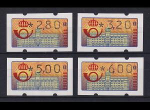 Schweden 1992 Klüssendorf ATM Mi.-Nr. 2 Satz 4 Werte 280-320-500-600 **