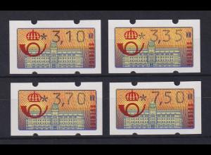 Schweden 1992 Klüssendorf ATM Mi.-Nr. 2 Satz 4 Werte 310-335-370-750 **
