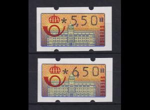 Schweden 1992 Klüssendorf ATM Mi.-Nr. 2 Satz 2 Werte 550-650 **