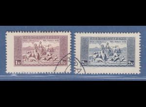 Tschechoslowakei 1934 Nationalhymne Kartonpapier Mi-Nr. 330-31 x Satz kpl. O