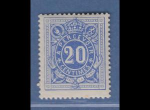 Belgien 1870 Portomarke 20 C. Mi.-Nr. 2 sauber ungebraucht.