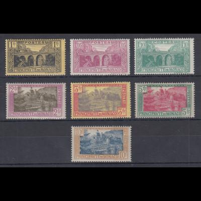 Monaco 1925 Freimarken: Ansichten Mi-Nr. 97-103 Satz sauber ungebraucht *