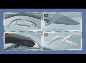 Kanada / Canada 2000 Wale Mi.-Nr. 1934-1937 Viererblock **