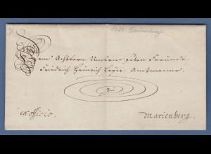 Vorphila Braunschweig: Schnörkelbrief 1783 gelaufen nach Marienberg
