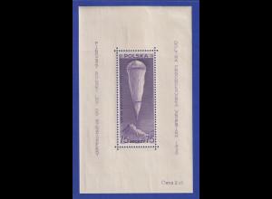Polen 1938 Blockausgabe Stratosphärenballon über Berg Giewont postfrisch **