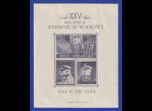 Polen 1939 Blockausgabe Polnische Legion Mi.-Nr. Block 8 **