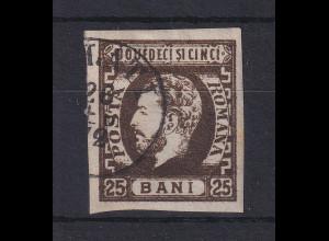 Rumänien 1871 Fürst Karl I. 25B braun Mi.-Nr. 28 gestempelt
