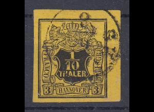 Altdeutschland Hannover Mi.-Nr. 5 breitrandig, sauber gestempelt