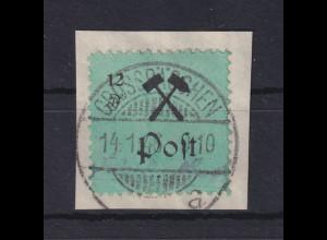 Lokalausgaben Großräschen 1945, 12Pfg schwarz auf grün, Mi.-Nr. 25 Type I O