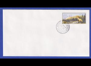 Zypern Amiel-ATM 1999 Mi-Nr. 4 Aut.-Nr.006 Wert 0,41 auf blanco-FDC