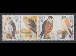 Malta 1991 WWF Greifvögel Mi.-Nr. 437-440 Satz 4 Werte **