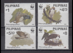 Philippinen 1991 WWF Vögel Affenadler Mi.-Nr. 2038-41 Satz 4 Werte **