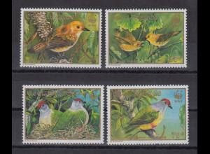 Cook Islands 1992 WWF Seltene Vögel Mi.-Nr. 1278-81 Satz 4 Werte **