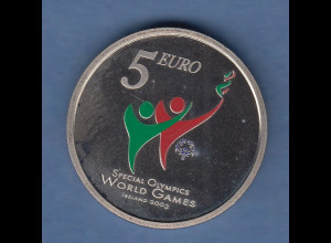 Irland colorierte 5 Euro-CN Münze Special Olympics 2003