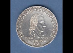 5-DM Silber-Gedenkmünze 1955 Friedrich Schiller