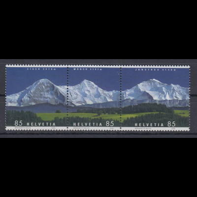 Schweiz 2006 Bergpanorama Eiger, Mönch, Jungfrau Mi-Nr. 1966-68 Satz **