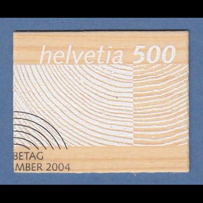 Schweiz 2004 Rohstoff Schweizer Holz Holz-Briefmarke Mi.-Nr. 1889 gestempelt