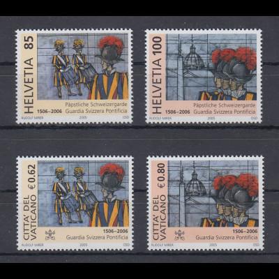 Schweiz / Vatikan 2005 Gemeinschafts-Ausgabe Schweizergarde je Satz **