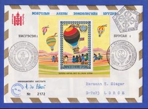 Mongolei 1974 Bollonpost-Brief