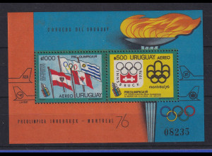 Uruguay 1976 Blockausgabe Olympiade 1976 Mi.-Nr. Block 25 **