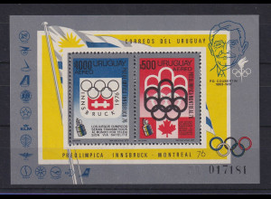 Uruguay 1976 Blockausgabe Olympiade 1976 Mi.-Nr. Block 24 **
