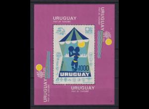 Uruguay 1974 Blockausgabe Land des Tourismus Mi.-Nr. Block 20 **