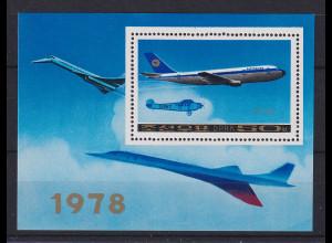 Korea Nord 1978 Mi.-Nr. Block 53 Lufthansa Airbus A-300 **