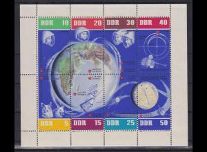 DDR 1962 Kleinbogen 5 Jahre Sowjetische Weltraumfahrt Mi.-Nr. 926-33 KLB **