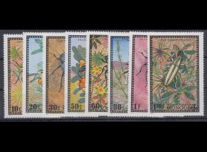 Mongolei 1972 Käfer Mi.-Nr. 685 - 692 **