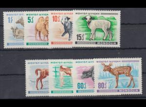 Mongolei 1968 Jungtiere Mi.-Nr. 482 - 489 **