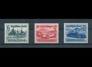 Deutsches Reich, Mi.-Nr. 686-688, Automobil-Ausstellung Satz kpl. einwandfrei **