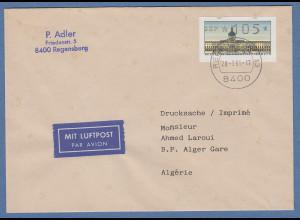 ATM Berlin Wert 105 auf Auslands-Lp-Drucksache mit Tagers-O REGENSBURG 28.3.91
